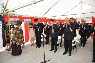 るぴなすビラ起工式(安全祈願祭)